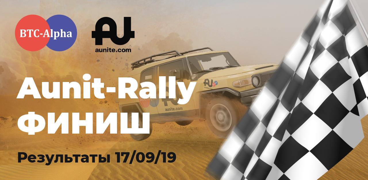 Конкурс «Aunit-Rally 2019» завершен ❕