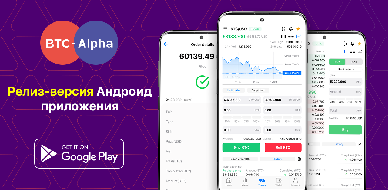 Релиз-версия Android-приложения BTC-Alpha!