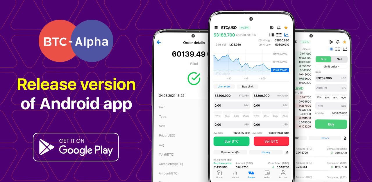 Release Version of Android Application of BTC-Alpha!