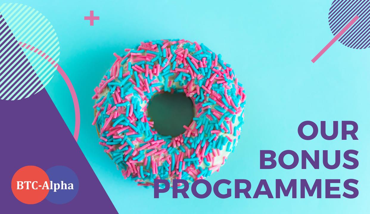 Up-to-date BTC-Alpha Bonus Programes