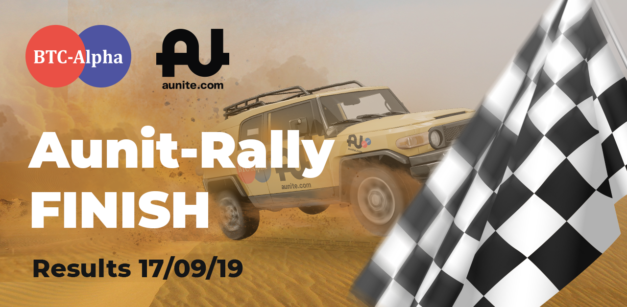 "The ""Aunit-Rally 2019"" contest is over ❕"